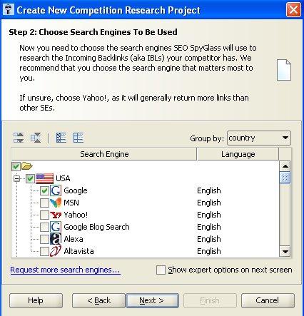 seo spyglass search engine