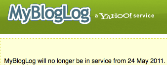 mybloglog is now closed