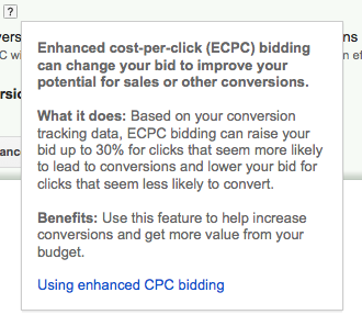 Adwords Enhanced Cost per Click (ECPC).