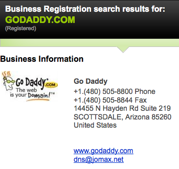 business registration information