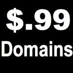 99 cent domain coupon
